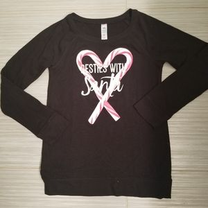 NEW Girls Justice SANTA sweater size 12